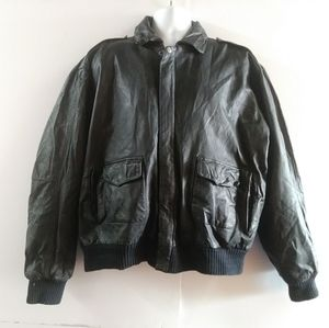 Top of the World Bomber leather jacket XL vintage